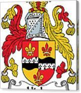 Hicks Coat Of Arms Irish Canvas Print