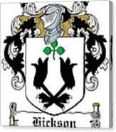 Hickson Coat Of Arms I Kerry Ireland Canvas Print