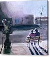 Hidamari  A Sunny Spot At Downtown Ann Arbor Michigan Canvas Print