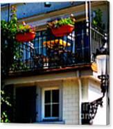 Hidden Away Balcony Canvas Print