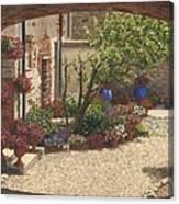 Hidden Garden Villa Di Camigliano Tuscany Canvas Print