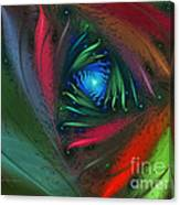 Hidden Jungle Plant-abstract Fractal Art Canvas Print