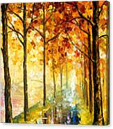 Hidden Path - Palette Knife Oil Painting On Canvas By Leonid Afremov Canvas Print