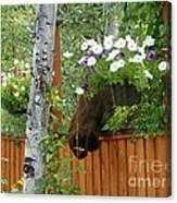 Hiding Moose Canvas Print