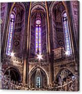 High Altar And Stained Glass Windows  Canvas Print