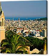 High Angle View Of A City, Barcelona Canvas Print