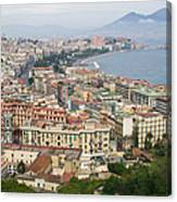 High Angle View Of A City, Naples Canvas Print