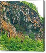 High Cliffs Along River Kwai In Kanchanaburi-thailand Canvas Print