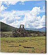 High Country Roundup The Old Days Canvas Print