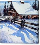 High Country Snow Canvas Print
