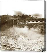 High Falls On The Genesee River Rochester New York At Flood Stage Circa 1904 Canvas Print