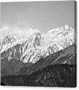 High Himalayas - Black And White Canvas Print