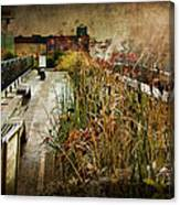 High Line Park In The Rain New York Canvas Print