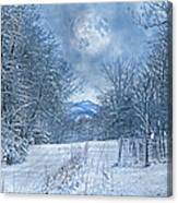 High Peak Mountain Snow Canvas Print