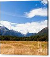 High Peaks Of Eglinton Valley In Fjordland Np Nz Canvas Print