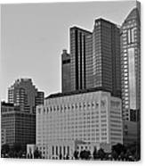 Columbus Close Up Black And White Canvas Print