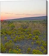 High Plains Desert Landscape Canvas Print