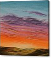 High Plains Sunset Canvas Print