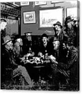 High Stakes Poker - 1913 Canvas Print