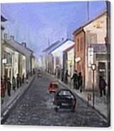 High Street Bacau The 70 Canvas Print