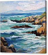 High Surf Asilomar Beach Canvas Print