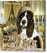 High Tea At The Ritz Canvas Print