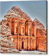 High Temple At Petra Canvas Print