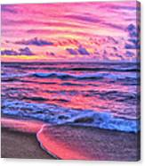 High Tide At San Onofre Canvas Print