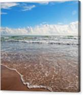 High Tide In South Padre  Canvas Print