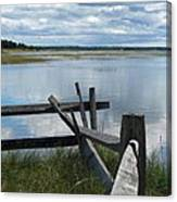 High Tide Lieutenant Island Marsh Canvas Print