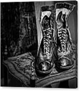 High Top Shoes - Bw Canvas Print