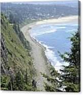 High View Of Oregon Coast Canvas Print