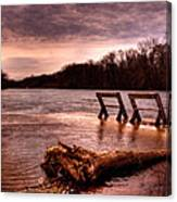 High Water On The Wolf River Canvas Print