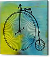 High Wheel Bicycle Canvas Print
