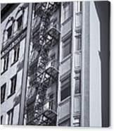 Highrise Fire Escape Selenium Canvas Print