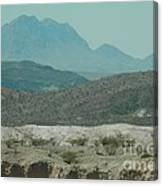 High And Low Mountain Layers Canvas Print