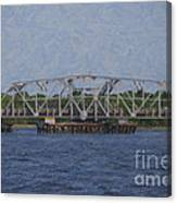 Highway 41 Swing Bridge Over The Wando River Canvas Print