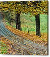 Highway Passing Through A Landscape Canvas Print