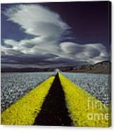 Highway Through Death Valley Canvas Print
