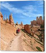 Hike In Bryce Canyon Canvas Print
