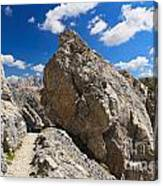 hike in Dolomites Canvas Print