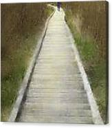 Hikers On Appalachian Trail Canvas Print