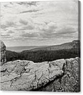 Hikers Standing On The Rocks, Gertrudes Canvas Print