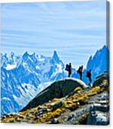 Hiking Above Chamonix On The Lac Blanc Trail Canvas Print