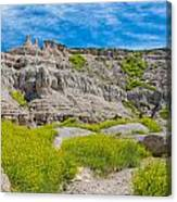 Hiking In The Badlands Canvas Print