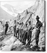Hiking Up Mt. Rainier Canvas Print