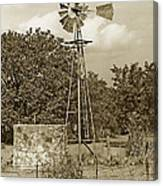 Hill Country Windmill Canvas Print