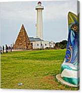 Hill Lighthouse Built In 1861 And Donkin Memorial Pyramid Honoring The Wife Of Sir Rufus Donkin-sout Canvas Print
