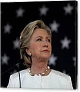 Hillary Clinton Campaigns Across Canvas Print