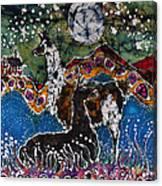 Hills Alive With Llamas Canvas Print